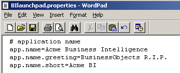 Customizing the BI Launchpad greeting