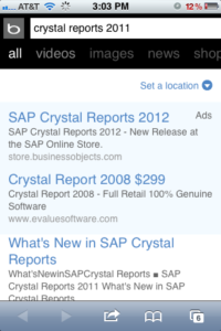 Crystal Reports 2012