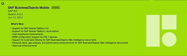 SAP BusinessObjects Mobile 6.0