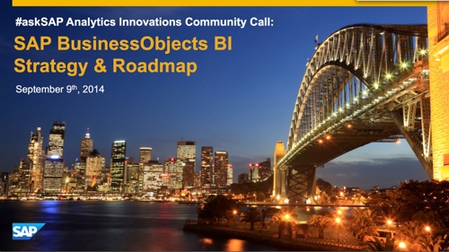 SAP BUsinessObjects BI Strategy and Roadmap