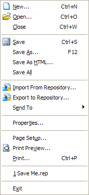 Desktop Intelligence Save Me Menu
